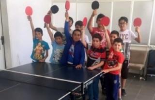 Ermenek'te Masa Tenisi Yaz Spor Okulları Devam...
