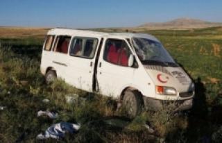 Karaman'da Tarım İşçilerini Taşıyan Minibüs...