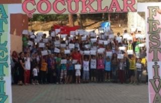 Ermenek'te Süper Çocuklar Atletizm Festivali'nde...