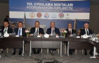 Antalya'da 6 İlin Yol Uygulama Noktaları Koordinasyon...
