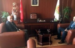Vali Fahri Meral Baro Başkanı Av. Oktay Yılmaz'...