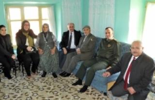 Vali Meral Akçaşehir Beldesinde Şehit Aileleri...