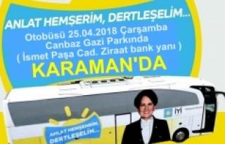 Anlat Hemşerim Dertleşelim Otobüsü Karaman'da