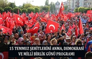 15 Temmuz Şehitleri Anma, Demokrasi Ve Milli Birlik...