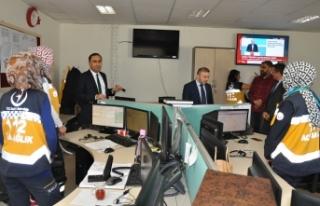 İl Sağlık Müdürü Arslan 112 Personelleri İle...