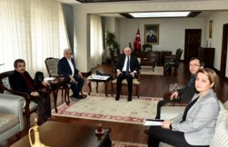 Vali Meral'e Ankara Ermenekliler Derneğinden Ziyaret