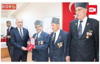 57 Kıbrıs Gazisine Milli Mücadele Madalyası Verildi