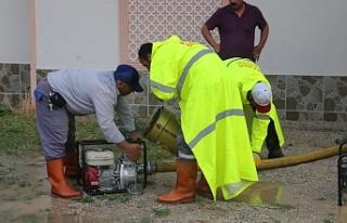 Aşırı Yağışa Belediye Anında Müdehale Etti