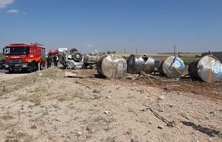 Karaman'da Süt Tankeri Devrildi: 1 Ölü