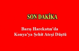 Barış Harekatın'da Konya'ya Şehit Ateşi...