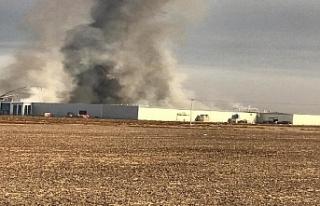 Bisküvi Fabrikasında Yangın Çıktı