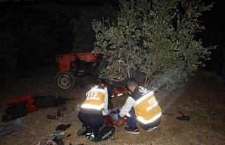 Zeytin Bahçesinde Traktörün Altında Kalan Adam...
