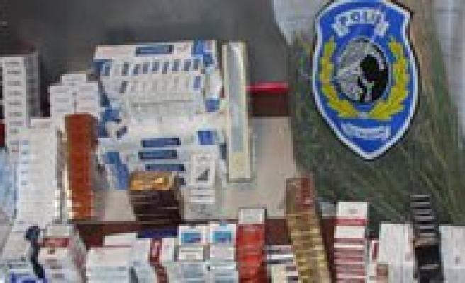 Karaman'da Kaçak Sigara Ve Esrar Operasyonu