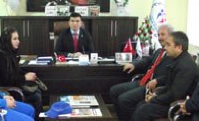 Isitme Engelli Üyelerden Aydogdu'ya Ziyaret