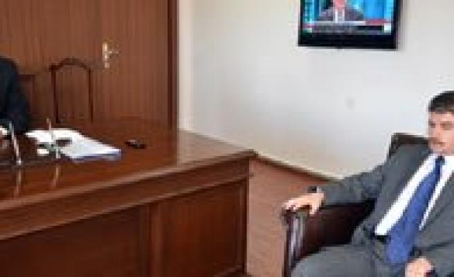 AA Konya Bölge Müdürü Ahmet Kayir Vali Kahraman'i Ziyaret Etti