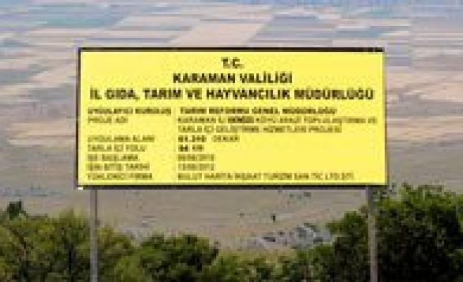 Arazi Toplulastirmalari Tamamlanan 8 Köyün Tarla Içi Yollari Agaçlandirilacak