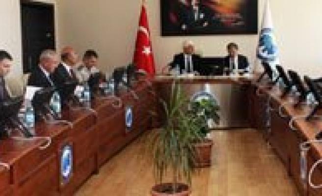 KMÜ'de Yüksekögretimin Güvenligi Istisare Toplantisi Yapildi