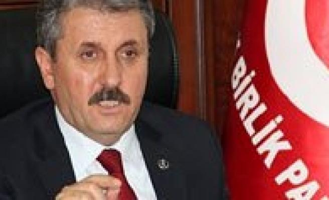 """BBP Genel Baskani Mustafa Destici: """"Kömür Ocaginda Mahsur Kalan Isçilerimiz Için Bütün Imkânlar Seferber Edilmeli"""""""