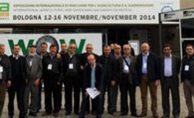 Karaman Ticaret Borsasi Meclis Üyeleri Bologna Tarim Fuarini Gezdi