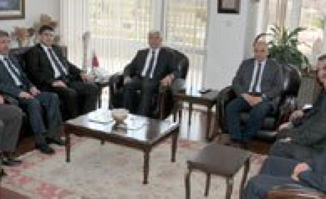 AK Parti Il Baskani Nazmi Ünlü'den Vali Murat Koca'ya Ziyaret