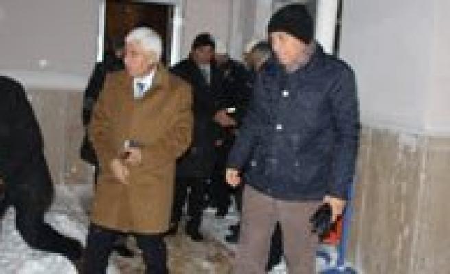 Vali Koca Ve Baskan Çaliskan'dan Kar Mesaisi