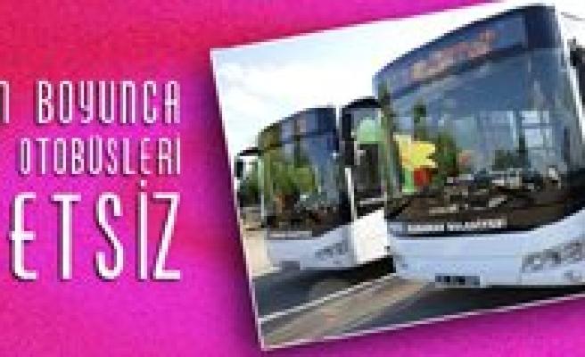 Bayram Boyunca Belediye Otobüs Seferleri Ücretsiz
