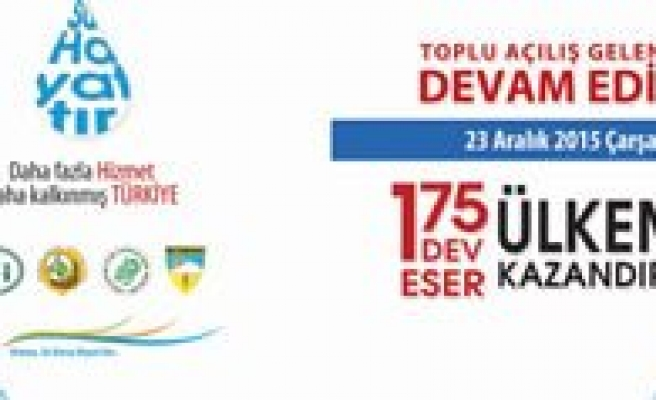 Basbakan Davutoglu'nun Hizmete Alacagi Eserlerden Karaman'da Payini Alacak…
