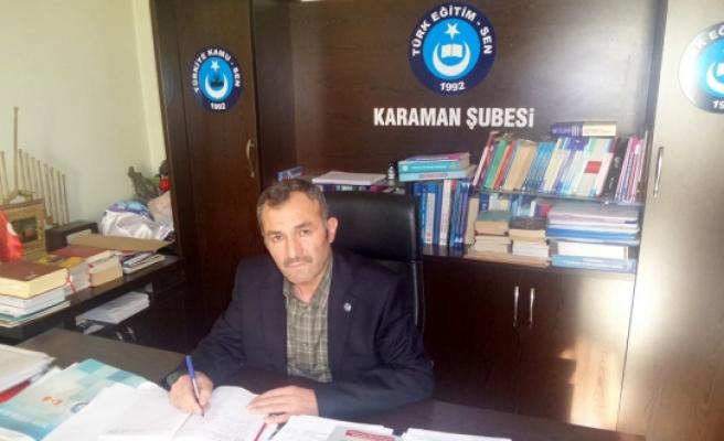 Türk-Eğitim Sen Başkanı Hotamışlı'dan Açıklama