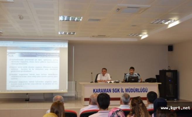 Alacakların Yeniden Yapılandırılması Konulu Bilgilendirme Toplantısı Yapıldı