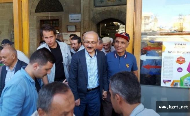 Bakan Elvan Bayram Namazını Karaman'da Kıldı