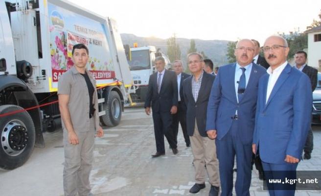 Bakan Elvan, Sarıveliler'de Belediyenin Toplu Açılış Törenine Katıldı