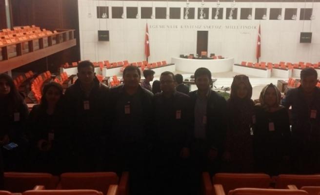 KMÜ, Karabekir MYO Öğrencilerinden Sağlık Bakanlığı Ve TBMM'ye Gezi