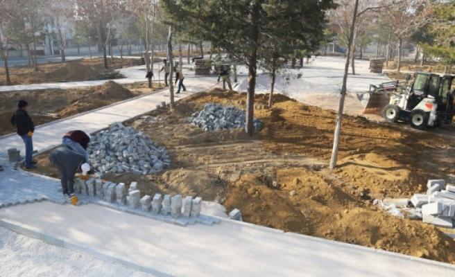 Gülistan Parkı Yenileniyor