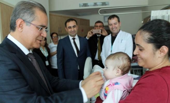 Vali Tapsız Devlet Hastanesini Ziyaret Etti