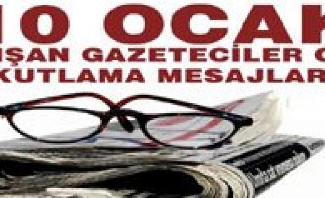 10 Ocak Çalisan Gazeteciler Günü Mesajlari