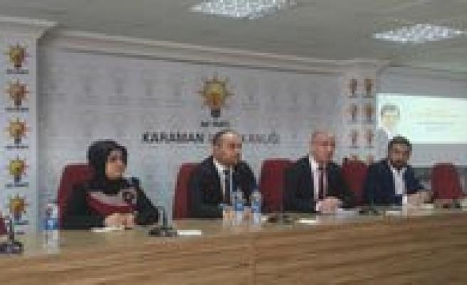 Ak Parti Karaman Il Danisma Meclisi Toplantisi Yapildi