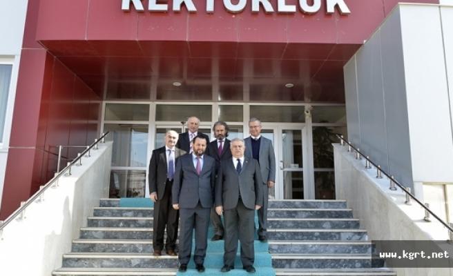 KMÜ Rektörü Akgül, Necmettin Erbakan Üniversitesi Yönetimini Ağırladı