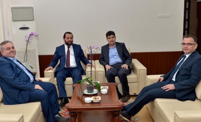 Milletvekili Recep Şeker'den Rektör Akgül'e Hayırlı Olsun Ziyareti