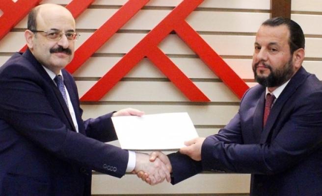 YÖK Başkanı Saraç'tan KMÜ Rektörü Akgül'e Tebrik