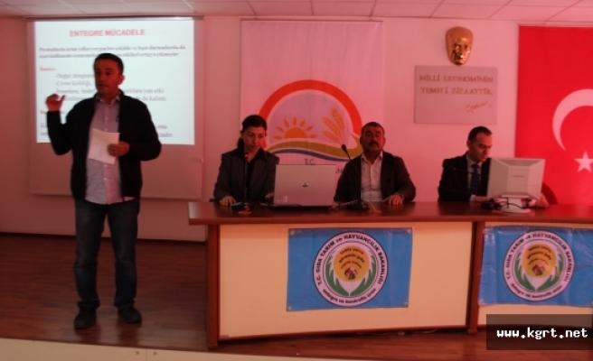 Elma Entegre Kontrollü Ürün Yönetimi Konulu Toplantı Yapıldı