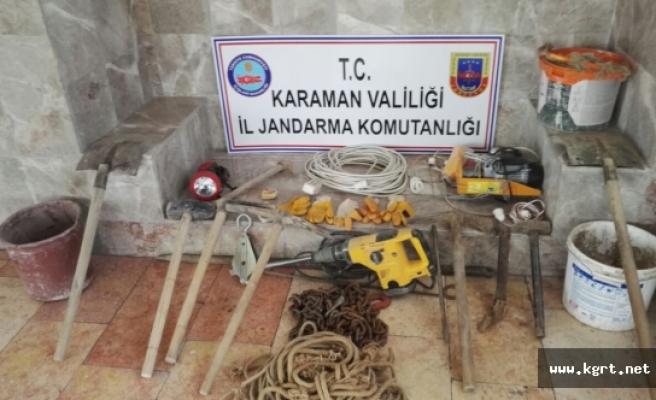 Karaman'da Kaçak Kazı Operasyonu: 3 Gözaltı