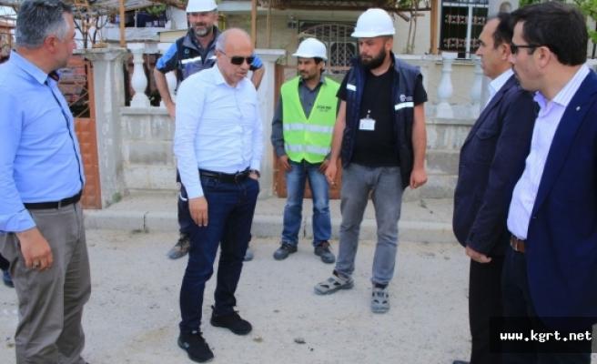 Larende Sümer Ve Yenişehir'de Ki Doğalgaz Çalışmaları Tamamlanıyor