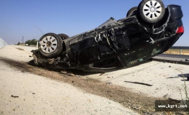Karaman'da Kontrolden Çıkan Otomobil Takla Attı: 4 Yaralı