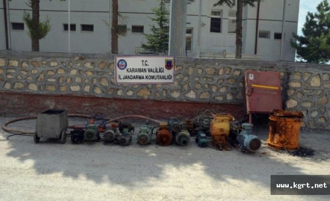 Karaman'da Maden Ocağından Hırsızlık Yapan 3 Kişi Yakalandı