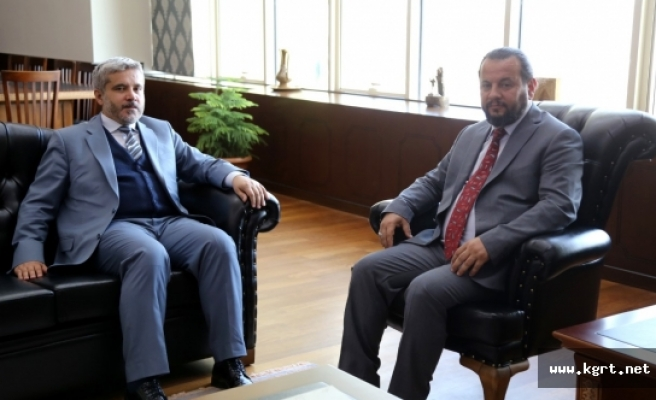 KMÜ Rektörü Akgül'den Aksaray Üniversitesi Rektörüne İade-i Ziyaret