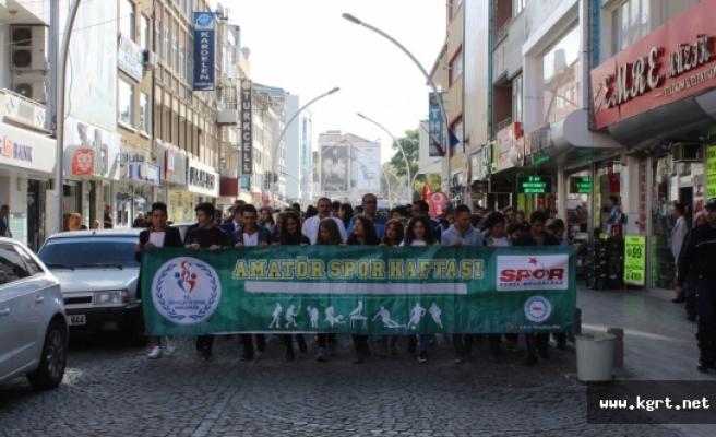 Amatör Spor Haftası Kortej Yürüyüşüyle Başladı