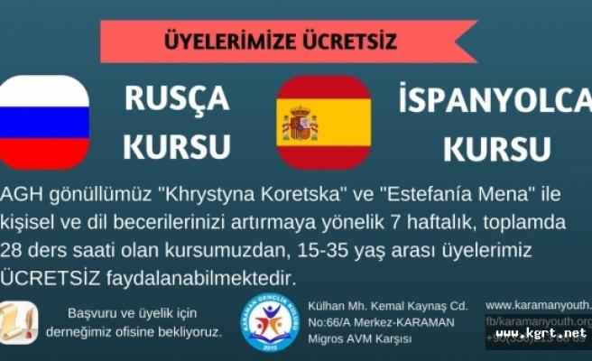 Rusça Ve İspanyolca Kursları Açılacak