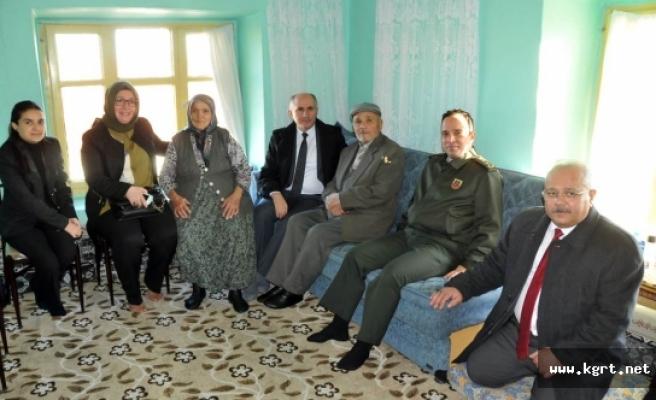 Vali Meral Akçaşehir Beldesinde Şehit Aileleri Ve Gazileri Ziyaret Etti