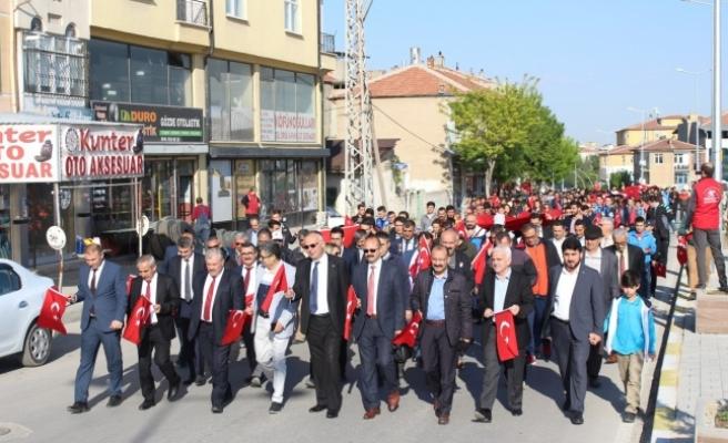 """Karaman'da """"57. Alay Vefa Yürüyüşü"""" Yapıldı"""