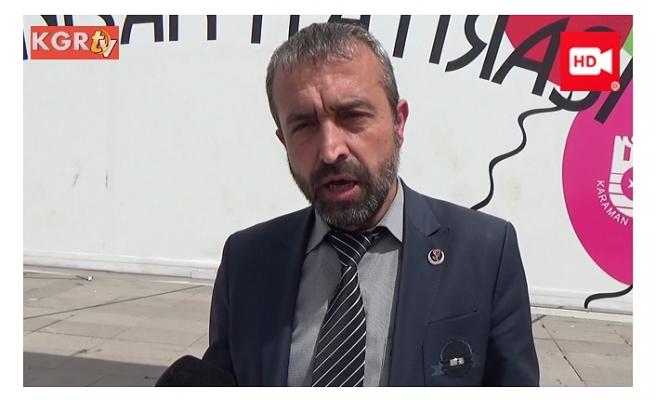 """BBP Karaman İl Başkanı Çolak: """"Millet olarak idam istiyoruz"""""""